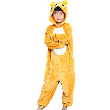 Kigurumi Pijamale Urs Leotard/Onesie Festival/Sărbătoare Sleepwear Pentru Animale Halloween Galben Peteci Kigurumi Pentru Copil Halloween