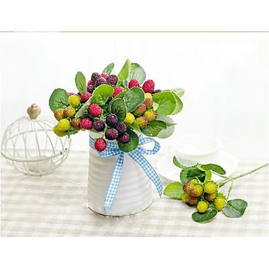 1 Gren Silke Silika Gele Planter Frukt Bordblomst Kunstige blomster