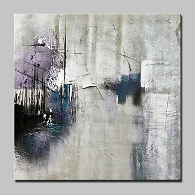 Pintura al óleo pintada a colgar Pintada a mano - Abstracto / Paisajes Abstractos Modern Lona