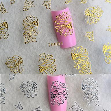 6pcs Nail Art klistremerke 3D Negle Stickers makeup Cosmetic Nail Art Design