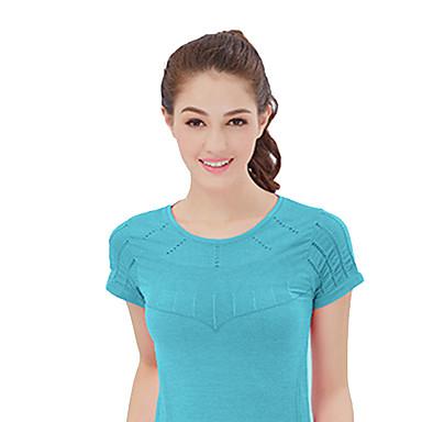 Naisten Juoksupaita Lyhythihainen Nopea kuivuminen Hengittävä Mukava T-paita varten Jooga Retkeily ja vaellus Kuntoilu Juoksu Chinlon Ohut