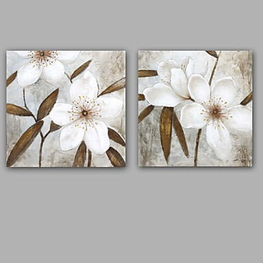 Pintura al óleo pintada a colgar Pintada a mano - Floral / Botánico Clásico Modern Lona