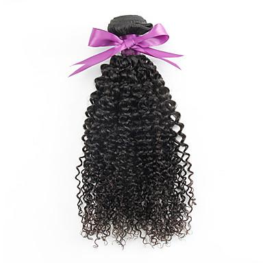 baratos Extensões de Cabelo Natural-Cabelo Mongol Kinky Curly 10A Cabelo Virgem Cabelo Humano Ondulado Tramas de cabelo humano Extensões de cabelo humano / Crespo Cacheado