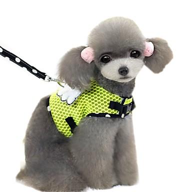 猫用品 / 犬用品 ハーネス / リード 安全用具 / ソフト / ベスト / カジュアルスーツ 純色 / 水玉柄 / カートゥン イエロー / ローズピンク クロス