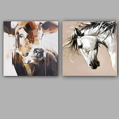 手描きの 抽象画 動物 クラシック 近代の キャンバス ハング塗装油絵 ホームデコレーション 1枚