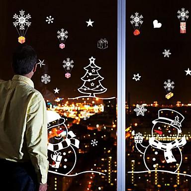 Navidad Caricatura Día Festivo Pegatinas de pared Calcomanías de Aviones para Pared Calcomanías Decorativas de Pared Calcomanías de Bodas