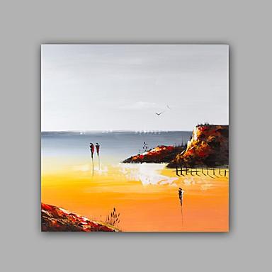 Håndmalte Abstrakt Landskap Firkantet,Moderne Klassisk Et Panel Lerret Hang malte oljemaleri For Hjem Dekor