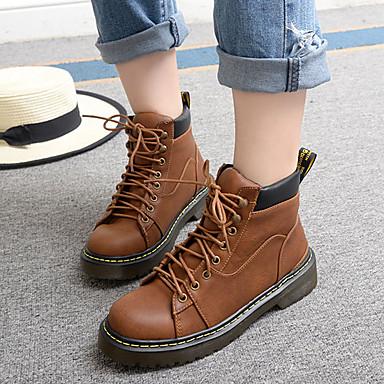 BootsitNaiset-Nahka-Musta Tumman ruskea-Rento-Comfort
