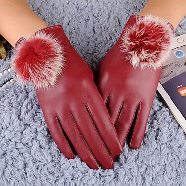 Dame Fritid Håndleddslengde Fingerspisser,Vinter Solid PU