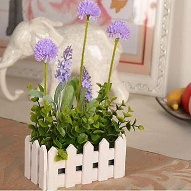 1 haara Muovi Others Hortensiat Kasvit Vaaleansininen Others Pöytäkukka Keinotekoinen Flowers