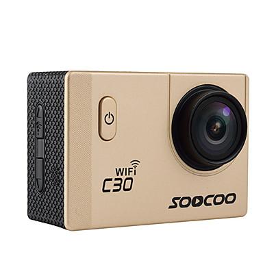 C30 Action Kamera / Sportskamera 16MP 4608 x 3456 Wifi Justerbar Vanntett Vidvinkel Trådløs 30fps Nei ± 2EV 2 CMOS 32 GB H.264Enkelt