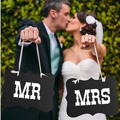 Outros Cartão de Papel Duro / Mistura de Material Decorações do casamento Festa de Casamento Tema Clássico Todas as Estações