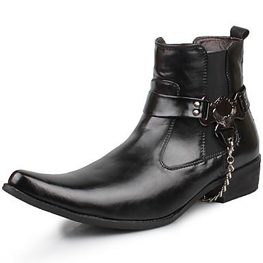 Amabile Per Uomo Fashion Boots Sintetico Primavera - Estate - Autunno Comoda Stivaletti Nero - Serata E Festa #05464852