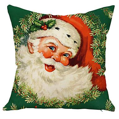 1 個 コットン リネン 枕カバー, 休暇 装飾