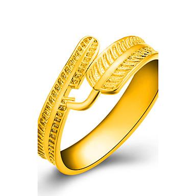 Χαμηλού Κόστους Μοδάτο Δαχτυλίδι-Γυναικεία Δαχτυλίδι wrap ring Επιχρυσωμένο Leaf Shape κυρίες Μοδάτο Δαχτυλίδι Κοσμήματα Χρυσαφί Για Γάμου Πάρτι Καθημερινά Causal Ένα Μέγεθος