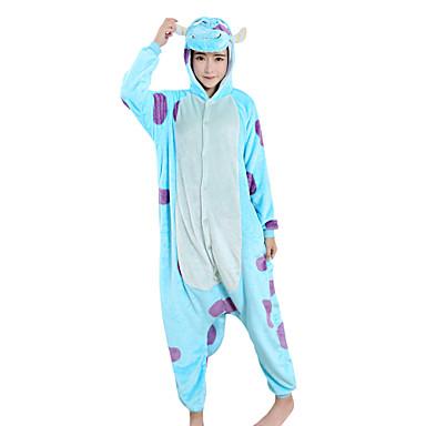 Kigurumi-pysjamas Melkeku / Tegneserie Onesie-pysjamas Kostume Fløyel Mink Blå Cosplay Til Voksne Pysjamas med dyremotiv Tegnefilm