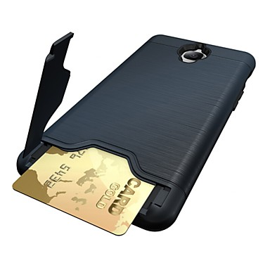 Etui Til OnePlus One Plus 3 Kortholder med stativ Bakdeksel Helfarge Hard PC til One Plus 3 One Plus 3T OnePlus