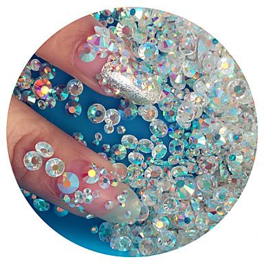 Недорогие Все для маникюра-1440pcs Набор для ногтей Стразы для ногтей Кристаллы маникюр Маникюр педикюр Повседневные блестит / Свадьба / Мода / Украшения для ногтей