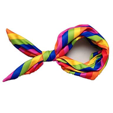 Hund Hodetørklær og hatter Hundeklær Stribe Regnbue Terylene Kostume For kjæledyr Herre / Dame Fritid / hverdag / Vendbart