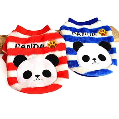 Gato Perro Sudadera Pijamas Ropa para Perro Animal Rojo Azul Lana Polar Disfraz Para mascotas Hombre Mujer Bonito Casual/Diario