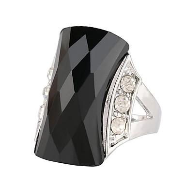 abordables Bague-Bague / Anneaux Femme Onyx Imitation Diamant Turquoise Alliage Bohème Bagues Tendance Bijoux Noir Vert pour Décontracté