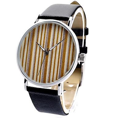 男性 女性用 ユニセックス スポーツウォッチ ファッションウォッチ 腕時計 ウッド / クォーツ 日本産クォーツ レザー バンド チャーム カジュアルスーツ ブラック