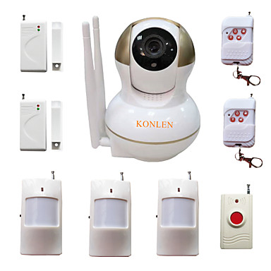 wifi burglar home alarm ip camera security system for