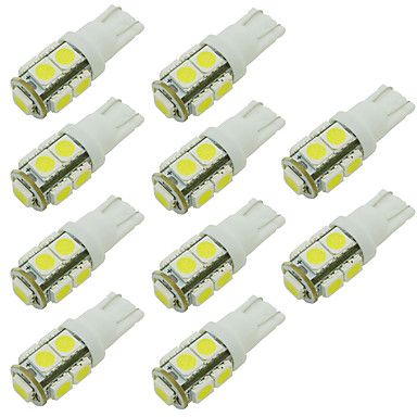10pcs Bil Elpærer SMD 5050 LED Baklys / Dørlampe / Sidemarkeringslys