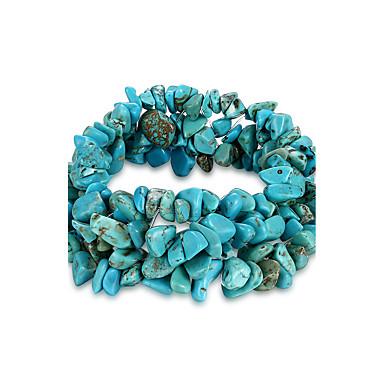 baratos Pulseira de Corrente-Mulheres Cristal Pedra vulcânica Pulseiras em Correntes e Ligações Aquário senhoras Original Fashion Pedras dos signos Cristal Pulseira de jóias Azul Para Aniversário Presente Diário / Turquesa