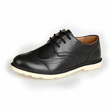 メンズ 靴 レザーレット 春 夏 秋 冬 コンフォートシューズ オックスフォードシューズ 用途 結婚式 パーティー ブラック Brown