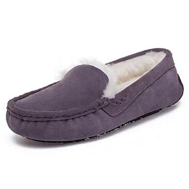 Naiset Kengät Nahka Comfort Mokkasiinit Käyttötarkoitus Kausaliteetti Harmaa Purppura Ruskea Sininen