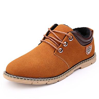 Miehet kengät Mokkanahka Kevät Syksy Talvi Cowboy / bootsit Bootsit Solmittavat Käyttötarkoitus Kausaliteetti Musta Laivaston sininen