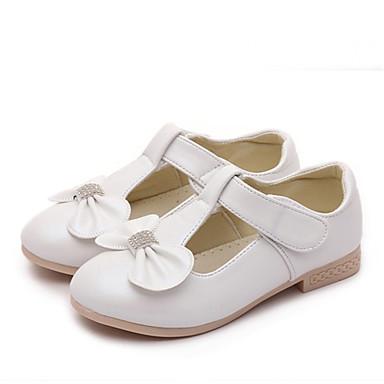 Tyttöjen Kengät Tekonahka Kevät Syksy Comfort Tasapohjakengät Tasapohja Ruseteilla Käyttötarkoitus Kausaliteetti Kulta Valkoinen Pinkki