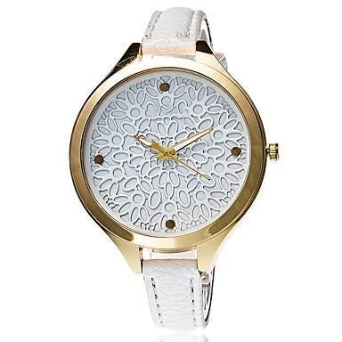 Mulheres Relógio de Pulso Mostrador Grande / Punk / Legal PU Banda Amuleto / Flor / Vintage Preta / Azul / Vermelho