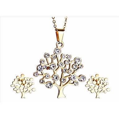 kalen®graceful naispuolinen korut vahvistetaan ruostumatonta terästä 18k italialainen kullattu elämän puu kaulakoru toimittaja