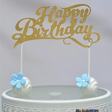 Decorações de Bolo Tema Praia Corações Papel de Cartão Aniversário com Laço 1 PPO