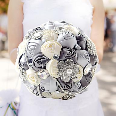 Bouquets de Noiva Buquês Casamento Aniversário Festa / Noite Tafetá Elastano Miçangas Renda Strass Poliéster Cetim Espuma