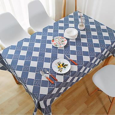方形 ストライプ パターン柄 テーブルクロス , リネン 材料 ホテルのダイニングテーブル 表Dceoration