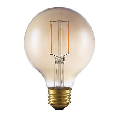 E26 LED-glødepærer G80 2 leds COB Mulighet for demping Ravgult 180lm 2200K AC 110-130V