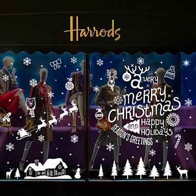 Navidad Palabras y Frases Día Festivo Pegatinas de pared Calcomanías de Aviones para Pared Calcomanías Decorativas de Pared Decoración