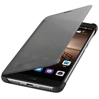Etui Til Huawei Autodvale / aktivasjon Flipp Heldekkende etui Helfarge Hard PU Leather til Mate 9