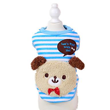 犬 スウェットシャツ 犬用ウェア キュート カジュアル/普段着 ベア レッド ブルー コスチューム ペット用