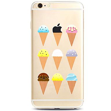 Käyttötarkoitus iPhone X iPhone 8 iPhone 7 iPhone 7 Plus iPhone 6 kotelot kuoret Kuvio Takakuori Etui Leikki Apple-logon kanssa Pehmeä TPU