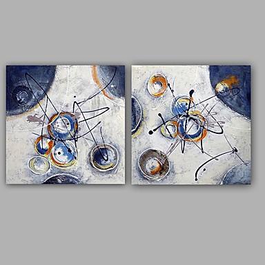 Håndmalte AbstraktKlassisk Moderne To Paneler Lerret Hang malte oljemaleri For Hjem Dekor