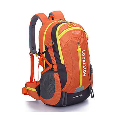 40 L バックパック - 耐久性 アウトドア キャンピング&ハイキング, 登山, レジャースポーツ テリレン ブラック, オレンジ, ルビーレッド