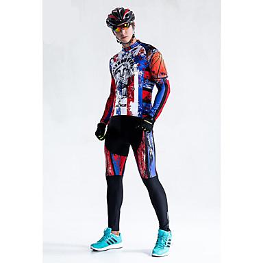 Malciklo Maillot de Ciclismo con Mallas Hombre Manga Larga Bicicleta Medias/Mallas Largas Ropa de Compresión Invierno Ropa para Ciclismo