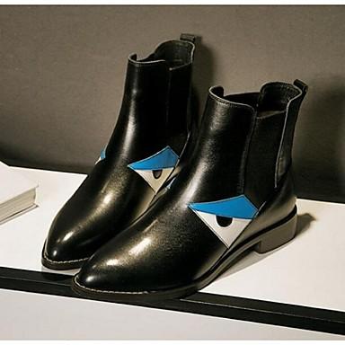 Naiset Kengät Kiiltonahka Comfort Bootsit Käyttötarkoitus Kausaliteetti Musta