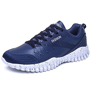 Miehet kengät Tekonahka Kevät Kesä Syksy Talvi Comfort Urheilukengät Tennis Käyttötarkoitus Urheilullinen Valkoinen Musta Sininen