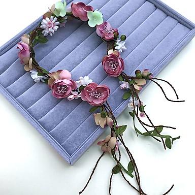 シフォン亜麻のヘッドバンドの花輪の髪のネクタイのヘッドピースのエレガントなスタイル