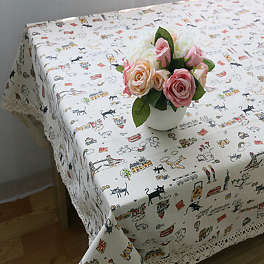 長方形 パターン柄 動物 プレイスマット , コットンブレンド 材料 ホテルのダイニングテーブル 表Dceoration